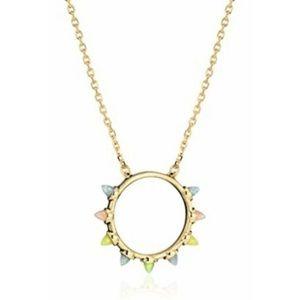 Rebecca Minkoff Jewelry - Rebecca Minkoff Spear Pendant Rainbow Necklace NWT